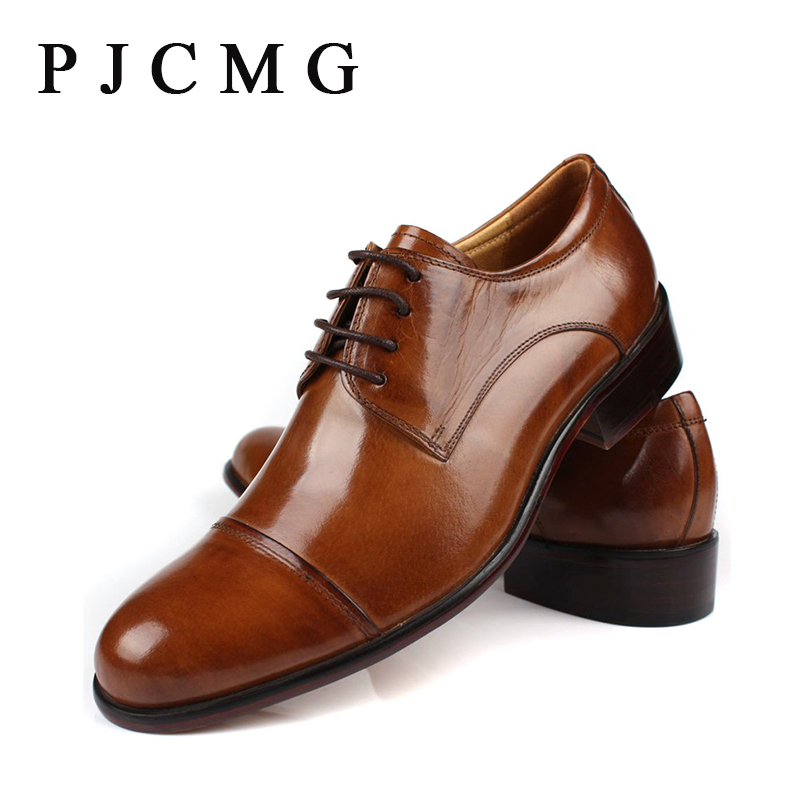 ФОТО 2017 Luxury Brand Men Pointed Toe Brown/Black Men Flat Soft Leather Lace Up Oxford Shoes For Men Wedding Shoes Big Size 38-46
