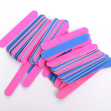 10 Pcs/Set Double Side Nail File Professional Polish Sanding Buffer Strips Polishing Manicure Tools Free Shipping
