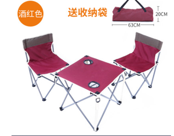 Chaise De Camping Avec Table   Chaise De Table Pliante Portable Ultralégère Avec Structure Solide Avec Porte-gobelets Pour Camping En Plein Air Randonnée Pique-nique