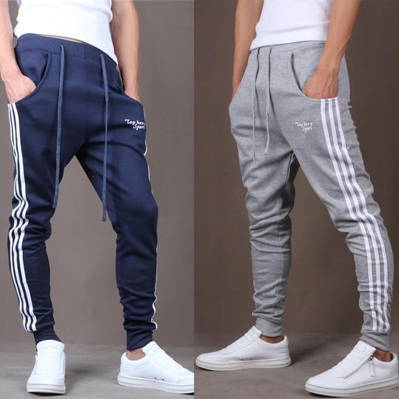 new 2018 male three bar sweatpants feet pants haroun pants casual pants