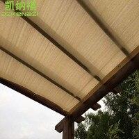 6x6 м/шт сад защитная сетка от солнца с прямым краем с Alu ушко стиль