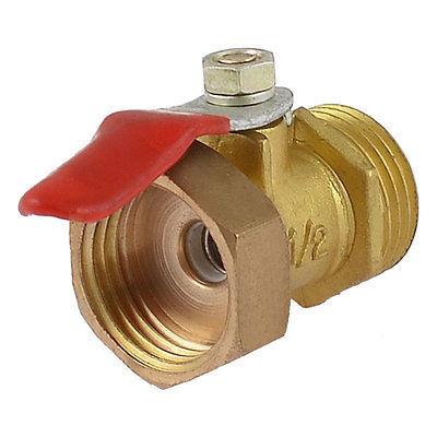 1/2 PT Male to Female Thread Metal Lever Handle Full Port Brass Ball Valve mini brass ball valve panel mountable 450psi with lever handle chrome plated malexfemale npt