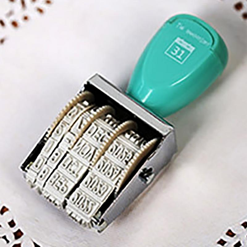 Vintage Stamps Signets Trolley Wheel Signet With Date Walking Stick Style DIY Tool 7.8*3.8*2.5cm Random Color