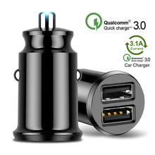 USB Quick Car Charger For Mobile Phone Tablet GPS in Car 3.1A Fast PD Charger Car-Charger Mini Dual USB Car Phone Charge Adapter liislee car quick charge fast mobile phone wireless charger car handrails box car armrest box for bmw x1 f48 17 18 car charger