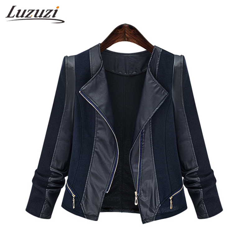 Coat Women PU Leather Jacket Spring Faux Soft Leather Long Sleeve Motorcycle Outerwear Fashion Overcoat Plus Size 5XL WS2361