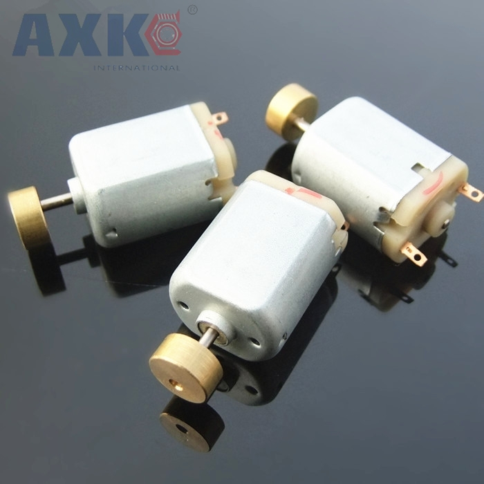AXK 2pcs/lot 1.5-6V Micro 130 Vibration Motor New Brass Head Strong Vibration Force Suitable For Massagers