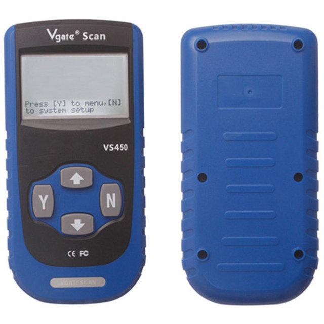 Hot Selling Vgate VS450 Scanner de Diagnóstico VAG VS450 OBDII OBD2 OBD 2 Falha de Diagnóstico Do Motor-Ferramenta de Redefinição de Airbag ABS scanner