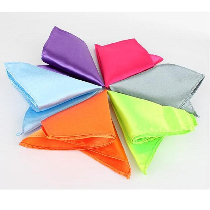 Solid Color Pocket Square Towel Handkerchiefs Tower Snot-rag Hanky Hankies