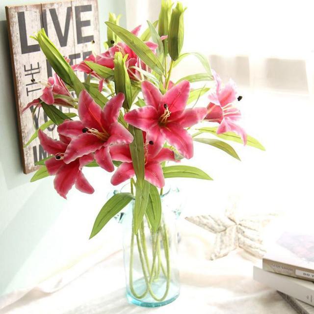 Artificials Hot Artificial Flowers Calla Lily Wedding Bridal Bouquet Fake  Flower DIY Home Decor 052725