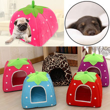 Winter Pet Products Cute Cat House Strawberry Shape Rabbit Nest Washable Bed