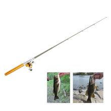 Mini Telescopic Portable Pocket Pen Fishing Rod Pole + Reel Aluminum Alloy Fishing Rod Reel Combo Kit Set Fishing Accessories