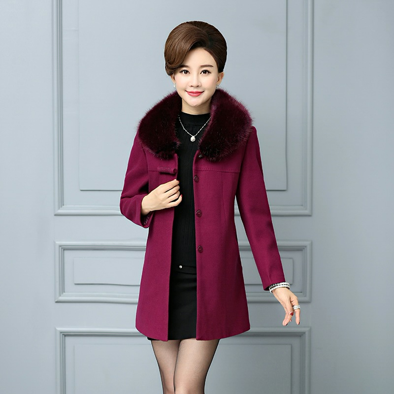 manteau femme laine 2017 middle aged lady fashion personality cultivate one 39 s morality manteau