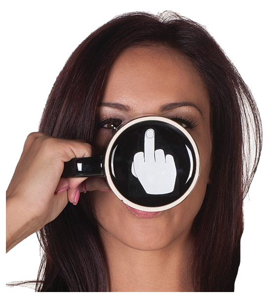 Creative Have a Nice Day Coffee Mug Middle Finger Funny Cup for Coffee Milk Tea Cups Novelty Gifts 5