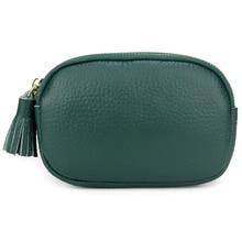 New Arrivals Short Tassel Style Women Wallets Premium 100% Genuine Leather Brand Double Zipper Compartment Female Coin Purses