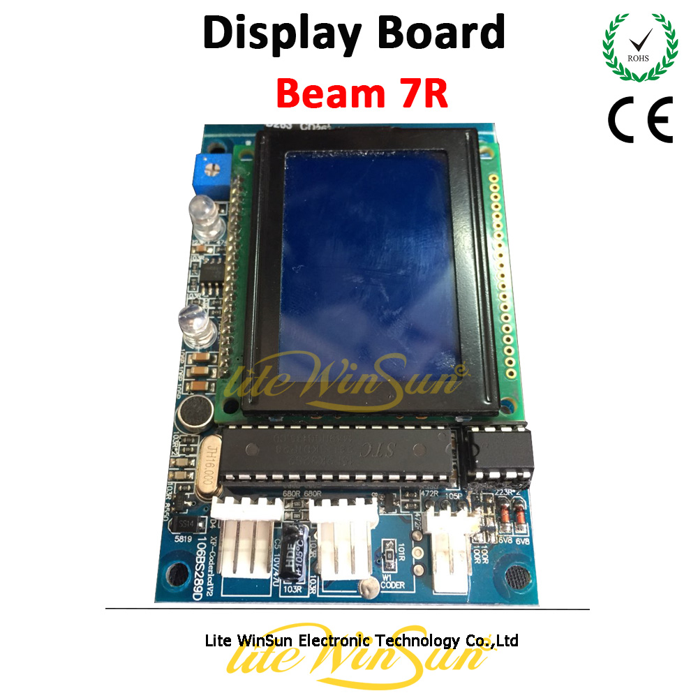 Litewinsune 1PC Free Ship Display Board/Main Board for Beam 7R 230W Moving Head Light fast free ship 16m flash csr8670 development board debug board demo board emulation board adk3 5 1 adk3 0 i2s spdif