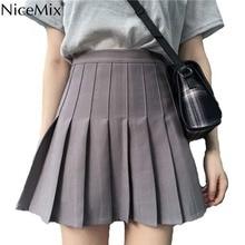 NiceMix Faldas Harajuku falda Kawaii falda cintura alta Escuela Coreana  Estilo negro falda Faldas Largas Verano 2019 b7ae65ce2644