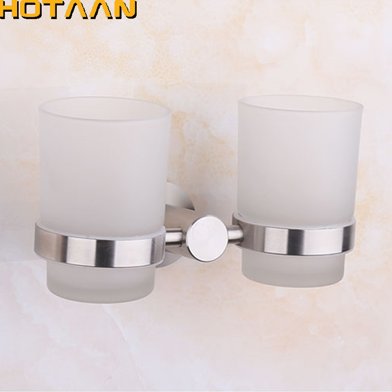 New Arrival SUS304 Stainless steel Tumbler Holder Cup & Tumbler Holders Toothbrush Holder Bathroom Accessories Banheiro YT-10308 chrome plated brass toothbrush toothpaste holder vintage glass cup single tumbler holders with 304 stainless steel and copper