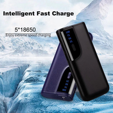 Power Bank Box Battery Case 5*18650 DIY  Battery Holder Usb Diy Power Bank Box for 18650 Smartphone Charger for iPhone xiaomi цена и фото