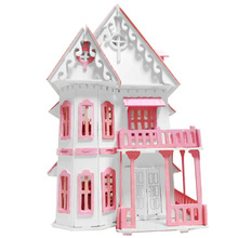 Wooden Dollhouse Fashion Doll House Furniture Girls Toy DIY Home Toys for Children Big Size Castle