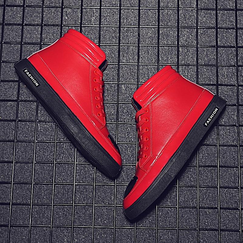 Hombre Chaussures Masculino Nouvelle Confortable Hommes Sapatos Bottine Mâle Noir Schuhe Mode De Imperméables Zapatos Rue 2018 Style La rouge multi t8CwdCq