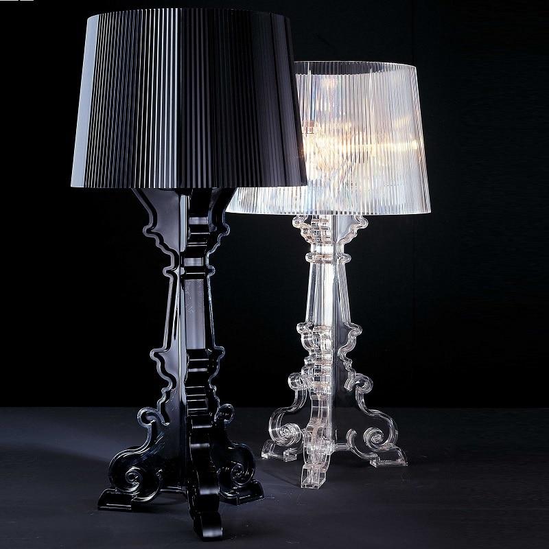 """Image 4 - Przezroczysty akrylowy 20 """"wysoki akcent lampa stołowa przezroczysta lampka nocna LED kryształ sypialnia lampka nocna salon wtyczka do usa ue E27Lampy stołowe   -"""