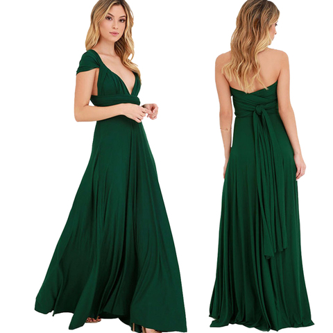Temperament Bridesmaid long sister group dress 2019 bride Bridesmaid dress many kinds of long Party dinner dress gowns Lahore