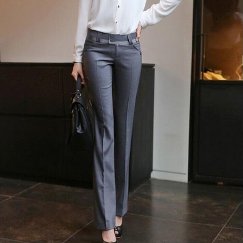 New 2018 Women Spring Summer Straight Pants Slim Ol Plus Size Casual Pants Ladies Suit Trousers ...