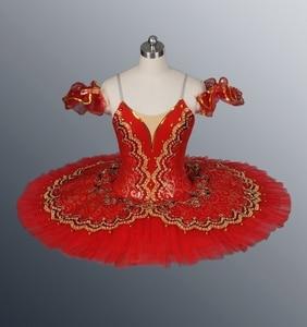Image 4 - Black Swan Classical Ballet Tutu Ballet Costume Adult Red Professional Ballet Tutu Black Ballet Tutus Point Dance Performance