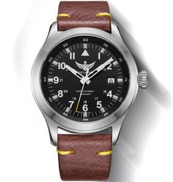 Yelang hombre reloj piloto batería de litio reloj de cuarzo Tritium T100 Ronda movimiento WR100M zafiro genuino cuero militar reloj-in Relojes de cuarzo from Relojes de pulsera    2