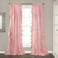 Lotus leaf cortinas Korean ruffles rod pocket solid color window pink purple white шторы curtain for living room free shipping Curtains     -