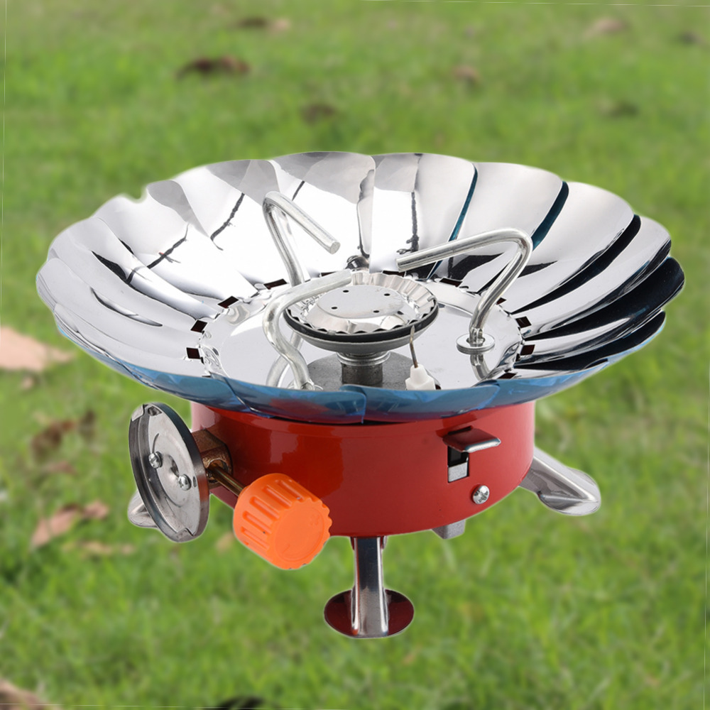 Outdoor Windproof Gas Stove Camping Steel Gas Stove Picnic Gas Burner 4000BTU Portable High Quality Outdoor Cooking  Tools fire maple x2 portable gas stove burner 1l 600g fms x2 hand held personal cooking system outdoor hiking camping equipment oven