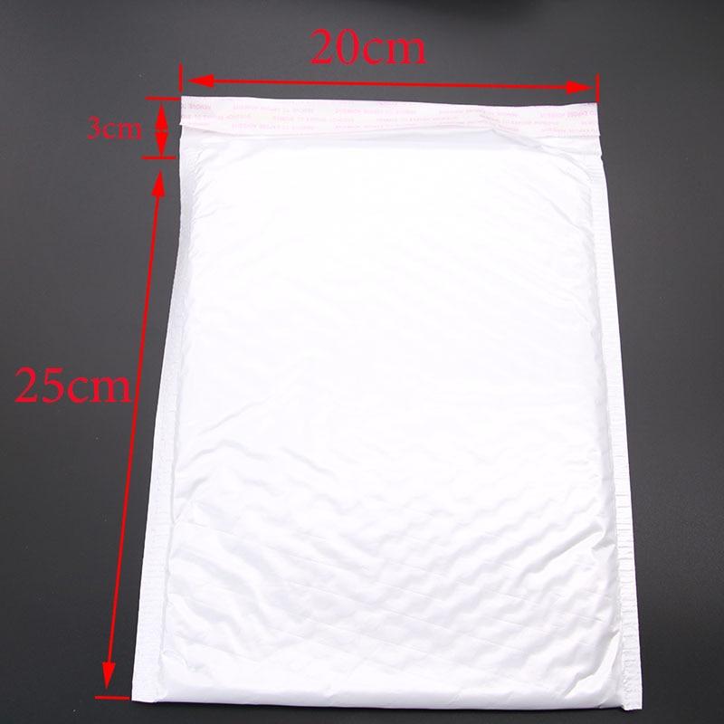 Wholesale! 10pcs (20 * 25cm +3cm) White Paper Envelope Gift Technology Bubble Bag 3