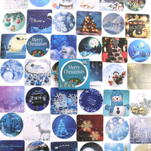 46pcs/box Merry Christmas Stickers Travel Decorative Stationery Stickers Ocean whale sticker Scrapbooking DIY Diary Album Lable