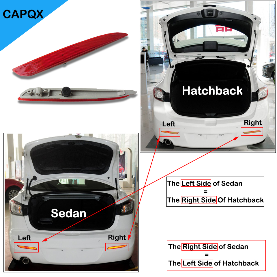 Capqx High Quality Rear Bumper Reflector Fog Light Lamp For Head Kijang 1997 Mazda 3 M3 Sedan Hatchback 2011 2012 2013 2014 2015 In Car Assembly From Automobiles