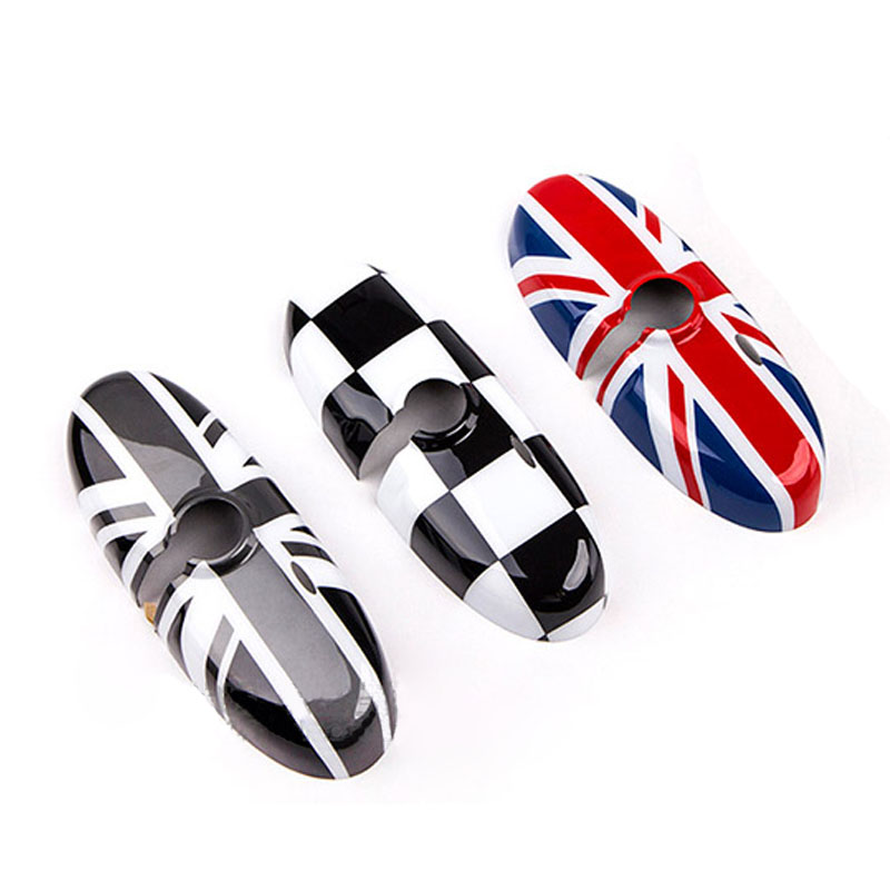 1Pcs Rearview Mirror Cover Interior View Mirror Shell Cover Car-styling For BMW Mini all series Union Jack Checkered Karachi