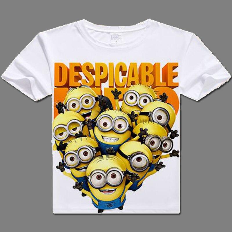 2017 casual tshirt for men Minions Despicable Me Tshirt Cotton digital printed Minions T- shirts cute Minions clothes t shirts