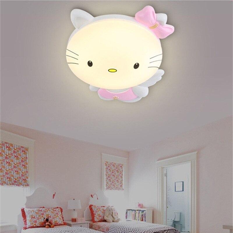 HAWBERRY LED A luce bianca neutro luce bianca calda per bambini camera da letto camera gattino del fumetto semplice lampada da soffitto