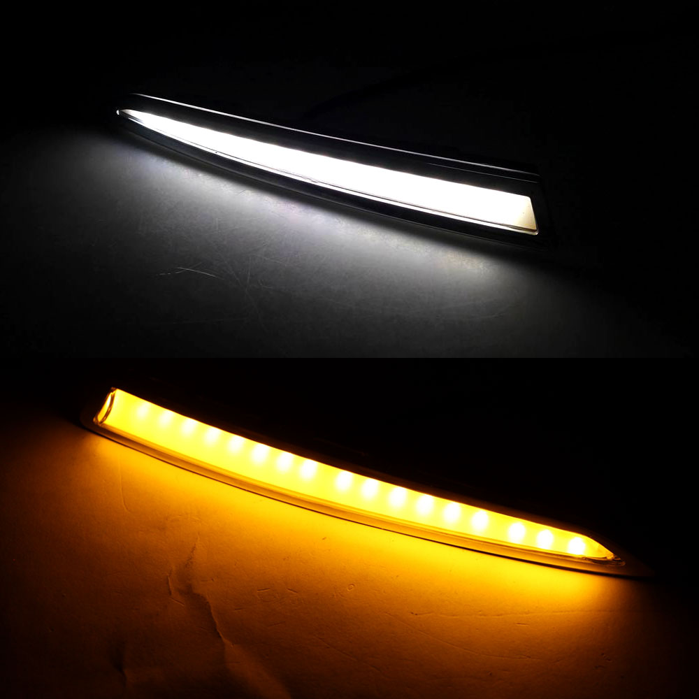 Daytime Running Light DRL for Ford Escape Kuga 2013 2014 2015 2016 2017 Left Right side White DRL/ Yellow Turning Signal Light silver color roof rails rack luggage carrier bars for ford escape kuga 2013 2014 2015 2016 2017