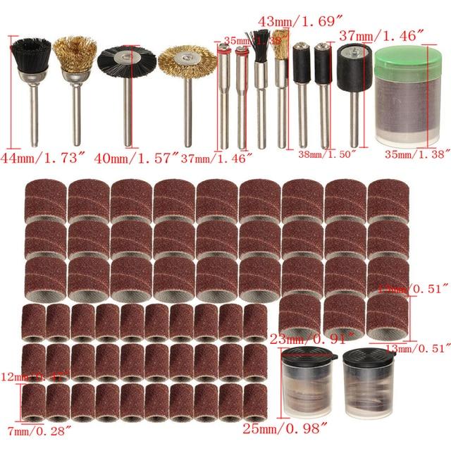 Mini kit de brocas rotativas, conjunto de ferramentas rotativas com 150 peças, ferramenta de polimento, lixamento de haste, acessório de polimento bit bit