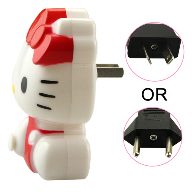 Pcslot New Arrival Hello Kitty Energy Saving LED Night Light - Hello kitty lamps for bedroom