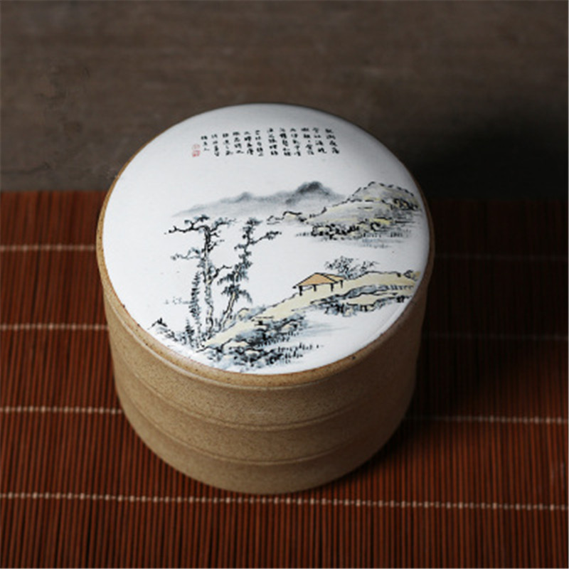 Vintage Chinese Style Ceramic Tea Canisters Are Used To Seal Storage Tanks Pottery Tea Cans Kitchen Portable Jar Porcelain Cans