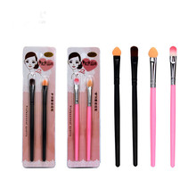 2 Pcs Long Handle Eye Shadow Brush Pro Foundation Eyebrow Lip Portable Beginner Smudge Cosmetic Beauty Makeup Tool