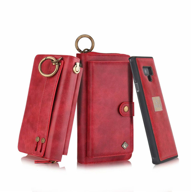 a67ce9f4a07 Multi-Function Zipper Wallet Case For Samsung Galaxy Note 9 Case Lady  Clutch Magnet Leather