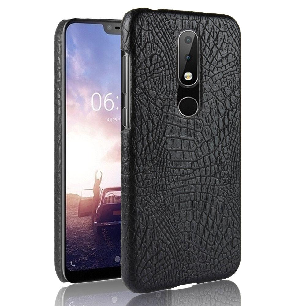 For Nokia 6 2018 Case Nokia 6.1 Case Vintage Leather Case for Nokia 1 2 3 5 6 7 8 Sirocco 9 X5 X6 3.1 5.1 6.1 Crocodile Pattern
