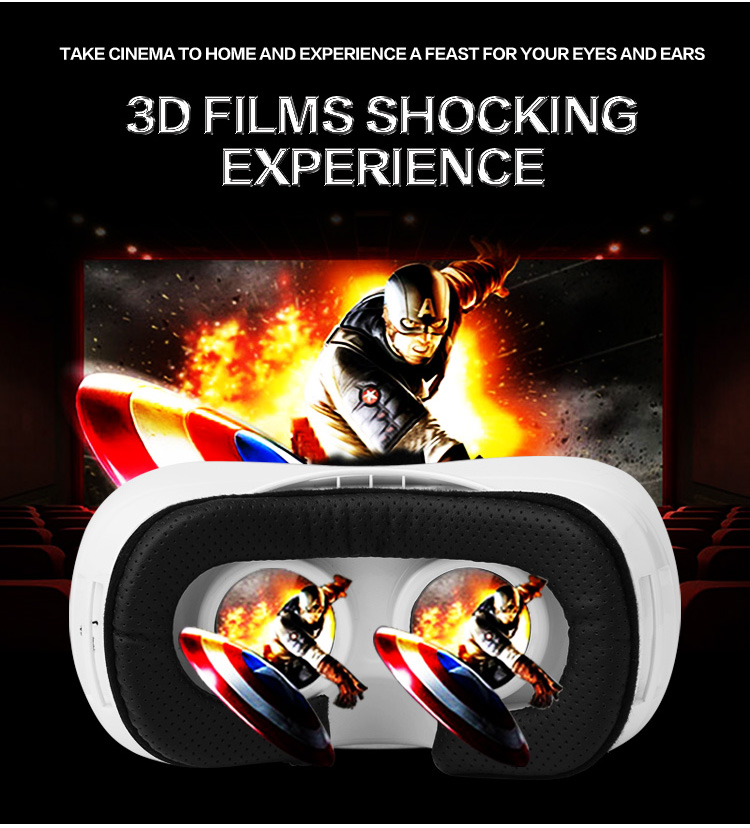 VR All in one Virtual Reality Glasses Headset 1920*1080P 5.0 Inch WiFi Bluetooth USB TF Immersive 3D Video Game Movie Headset - 4