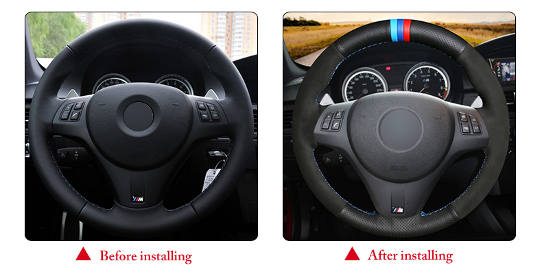 for BMW M3 2009 steering wheel cover