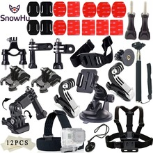 SnowHu for Gopro Accessories set SJCAM mount SJ4000 / xiaomi yi 4k eken h9 go pro hero 7 6 5 4 kit GS11
