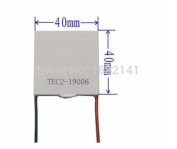 40*40*6.3mm DC 12V 6A TEC2-19006 Double-Deck 40*40mm Thermoelectric Cooler Peltier refrigeration  Module 40