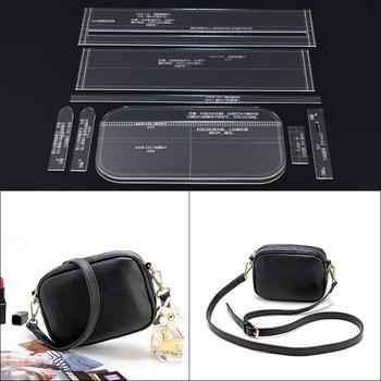 ebc5e250 1 Conjunto de bolso de hombro de cuero para mujeres DIY 28*15*10 cm patrón  de costura Plantilla de cuero Acrílico