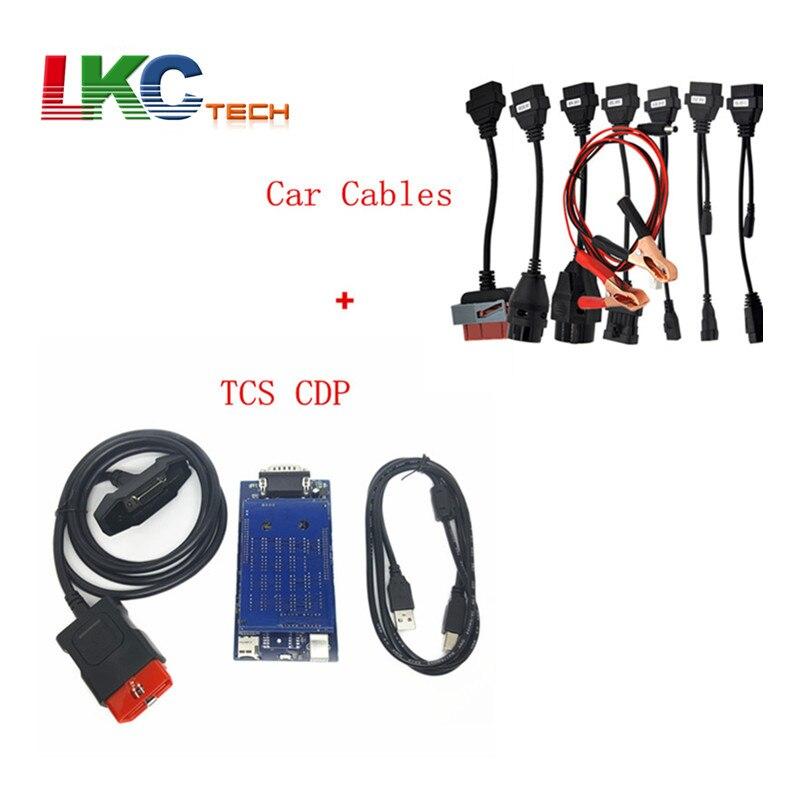Prix pour Top-vente CDP PRO 2015 R3/2014. R2 Avec 8 Câbles De Voiture Auto Outil De Diagnostic TCS CDP PRO PLUS Sans Bluetooth